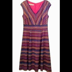Evan Picone Matte Jersey Pink Mix Dress